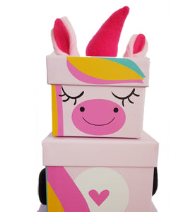 Children's Unicorn Stacking Gift Box face zoom