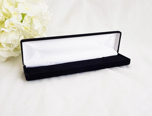 Black Velvet Luxury Bracelet Gift Box diagonal