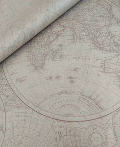 Luxury Old World Map Tissue Paper 5 sheets