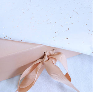 Rose Gold A5 Luxury Magnetic Gift Box with Ribbon with tissue paper