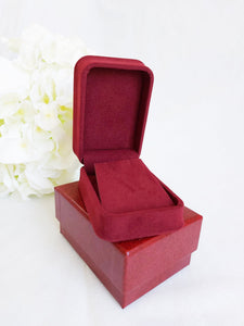 Red Luxury Suede Pendant Box stack