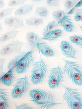 Load image into Gallery viewer, Luxury Peacock Feather Tissue Paper 5 sheets