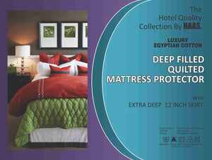 100% Egyptian Cotton Mattress protector Extra Deep - All sizes