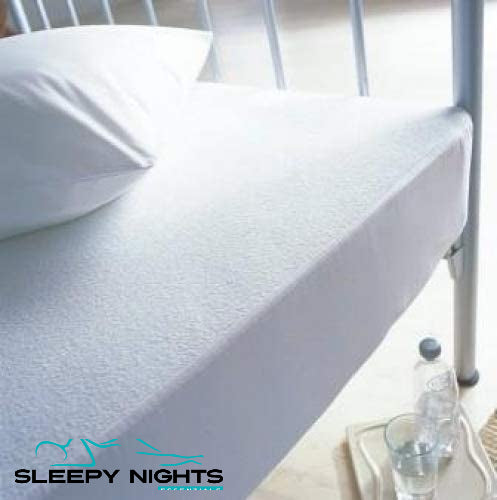 Terry Towelling Cotton Waterproof Mattress Protector (Noise / Crinkle Free)