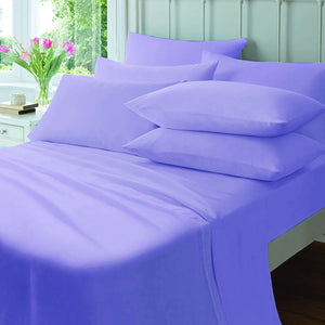 Polycotton Fitted Sheet : Lilac