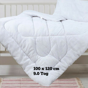 Baby Cot Bed Duvet Quilt Pillow Bedding Anti Allergy - Junior Toddler Cot Quilt