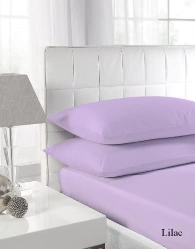 Egyptian Cotton Fitted Sheet Hotel Quality : Lilac