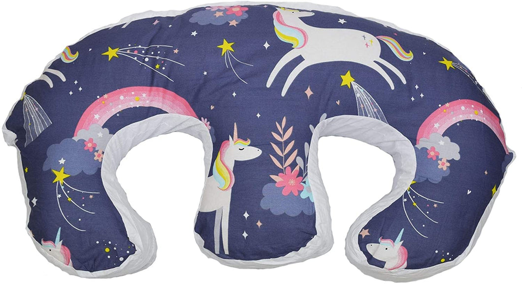 Twin Feeding Nursing Pillow Cushion for Complete Support: Night Unicorns
