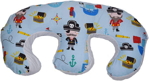 Twin Feeding Nursing Pillow Cushion for Complete Support: Pirates Treasure