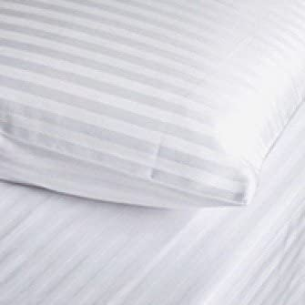Egyptian Cotton Fitted Sheet Hotel Quality : Satin Stripe