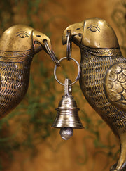 Figurine Love Birds Wedding Bell