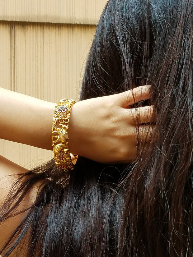 Bangle Goldplated Laxmi Elephant