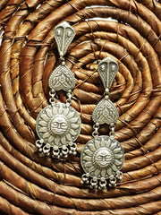 Earring Oxidized Sun