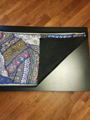 Table Runner Heavy Beaded Lapis