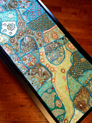 Tapestry Heavy Beaded Turquoise