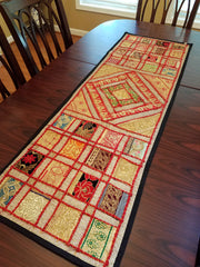 "Table Runner Lace Square 60"" Red"