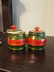 Accent Wood Mini Jar Set