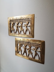 Wall Decor Dhokra Folk Art Set of 2