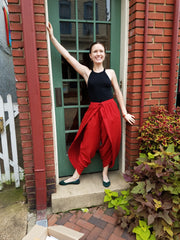 Pants Dhoti Red