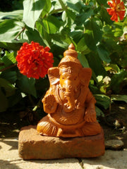 Figurine Ganesh Clay 8in