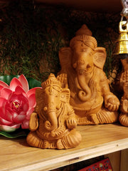 Figurine Ganesh Clay 4in