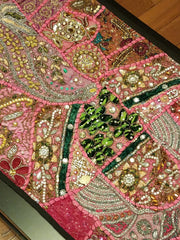 Table Runner Heavy Beaded Pink