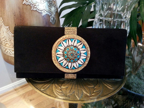 Clutch Shell Medallion BLK