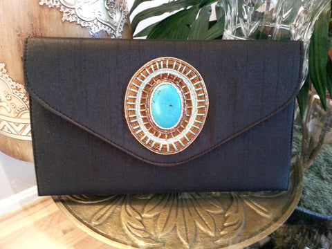 Clutch Cabochon Medallion BLK