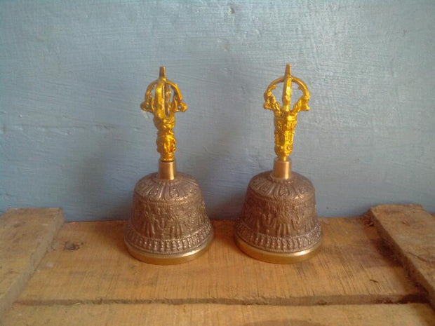 Bell Tibet Brass Handle
