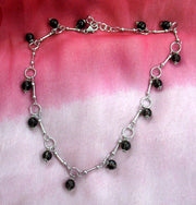 Necklace Gem Onyx Single drop