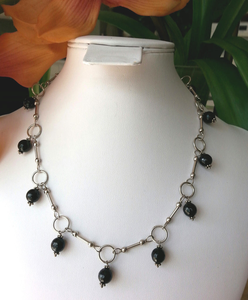 Neck Chain Onyx Single Drop