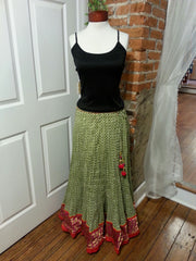 boho retro swing skirt