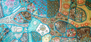 Table Runner Heavy Beaded Turquoise