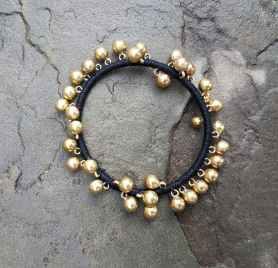 Bangle Brass Bubbles Black