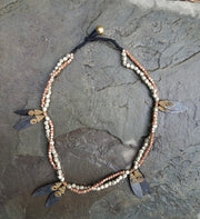 Necklace Brass 2 Petals