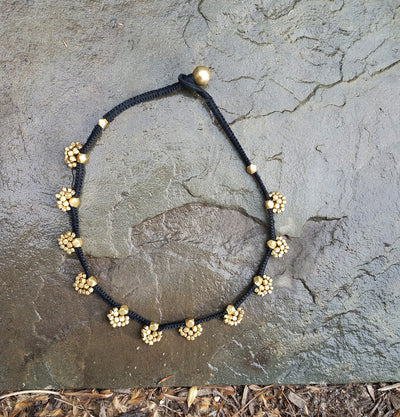 Necklace Brass Buta Black