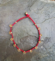 Necklace Brass Buta Red