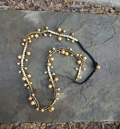 Necklace Brass Bubbles