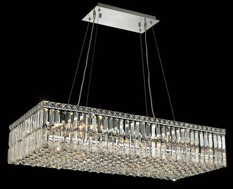 Chandelier Chrome Finish And Crystal #01082144-16