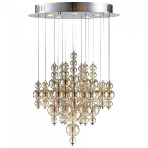 Chandelier Chrome Finish and Smokey Bubbles 016116-16