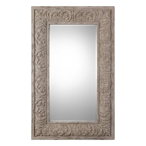 Mirror  Driftwood Finish With Light Ivory Gray Wash 20-418-UTER