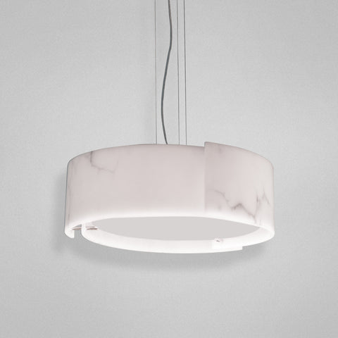 Pendant Chrome Finish And  Glass Shade and Diffuser #020815-14