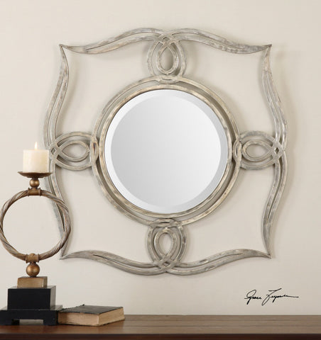 Oxidized Plated Silver Finish Mirror #200851-014