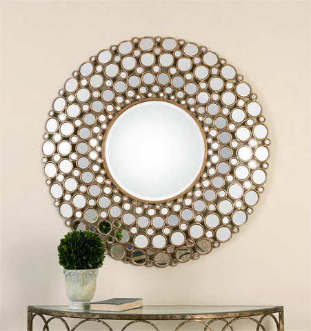 Small Size Polished Edge Mirrors with Antique Gold Leaf #200851-014