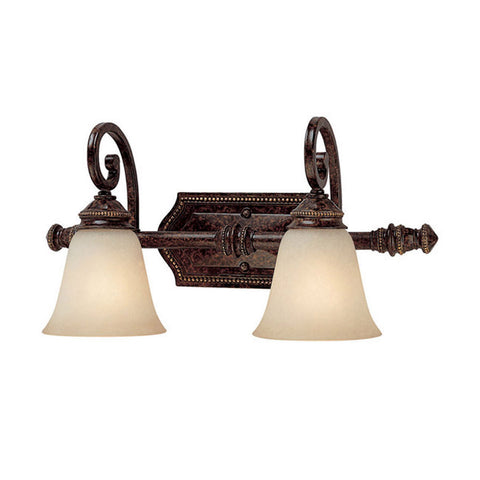 Bathroom Light Chester Bronze Finish And Scavo Glass 9518-JSH-CLI