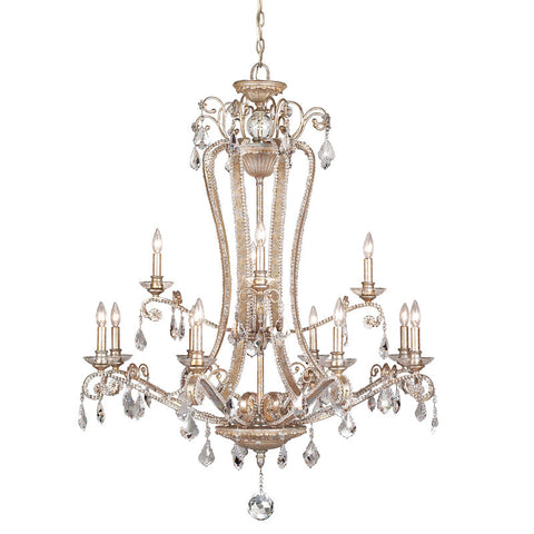 Chandelier Silver Finish And Clear Crystal #010815-014