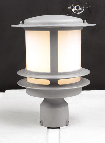 Outdoor Post Light  Silver Finish With Acrylic Lens #190939-14