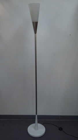 Floor Lamp Polished Steel With Frosted Glass  06-118-JSH-746