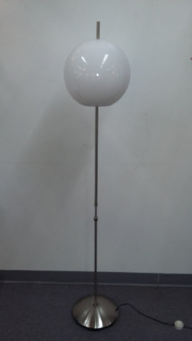 Floor lamp Polished Nickel  With White Acrylic Globe 06-118-JSH-339