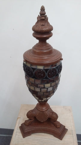 Table Lamp Bronze Metal With Tiffany Glass Shade 07-118-JSH -0112